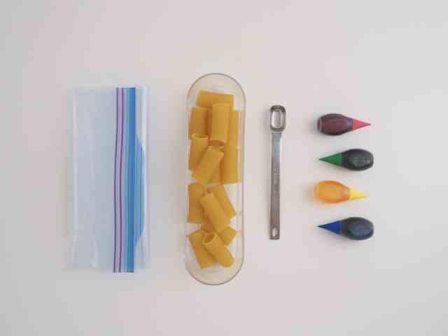 輕鬆染出彩色筆管麵 材料
