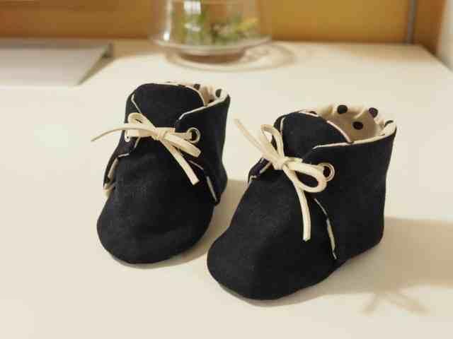 手作寶寶靴子-嬰兒鞋成品 (版型分享) Handmade Baby Boots (Pattern)