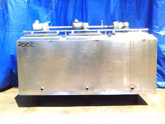 Used 1200 Gallon 3 Compartment Stainless Steel Tank