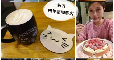 新竹下午茶│四隻貓咖啡輕食。隱藏巷弄之中的老宅咖啡廳~wifi/插座/不限時*
