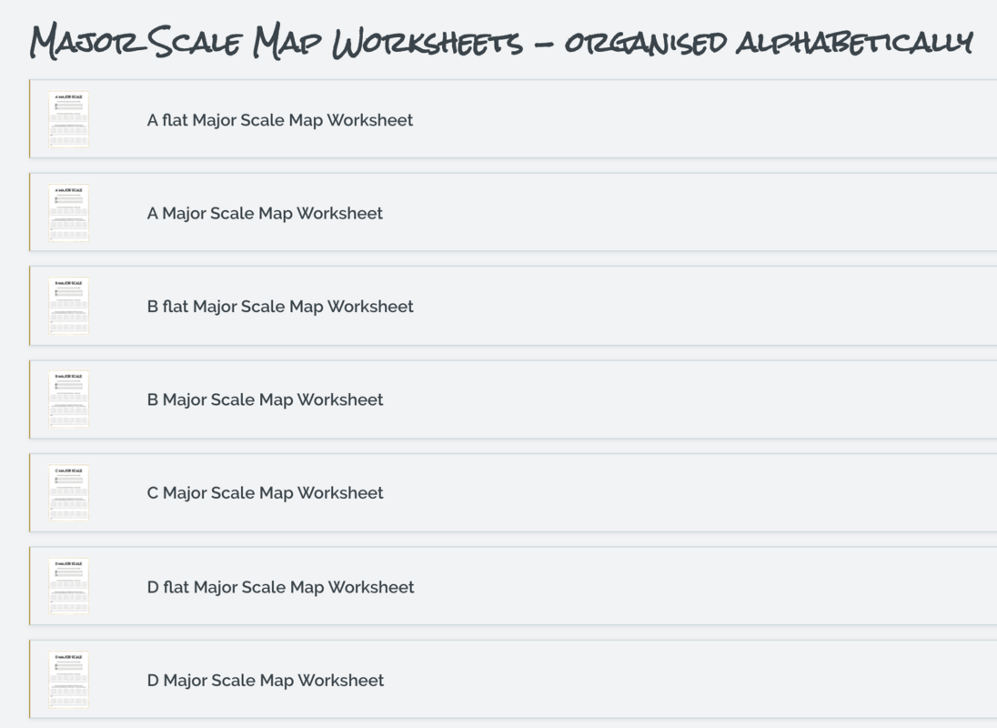 Scale Map Worksheet Launch Page