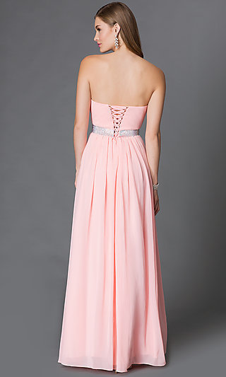 Long Sweetheart CorsetBack Prom Gown