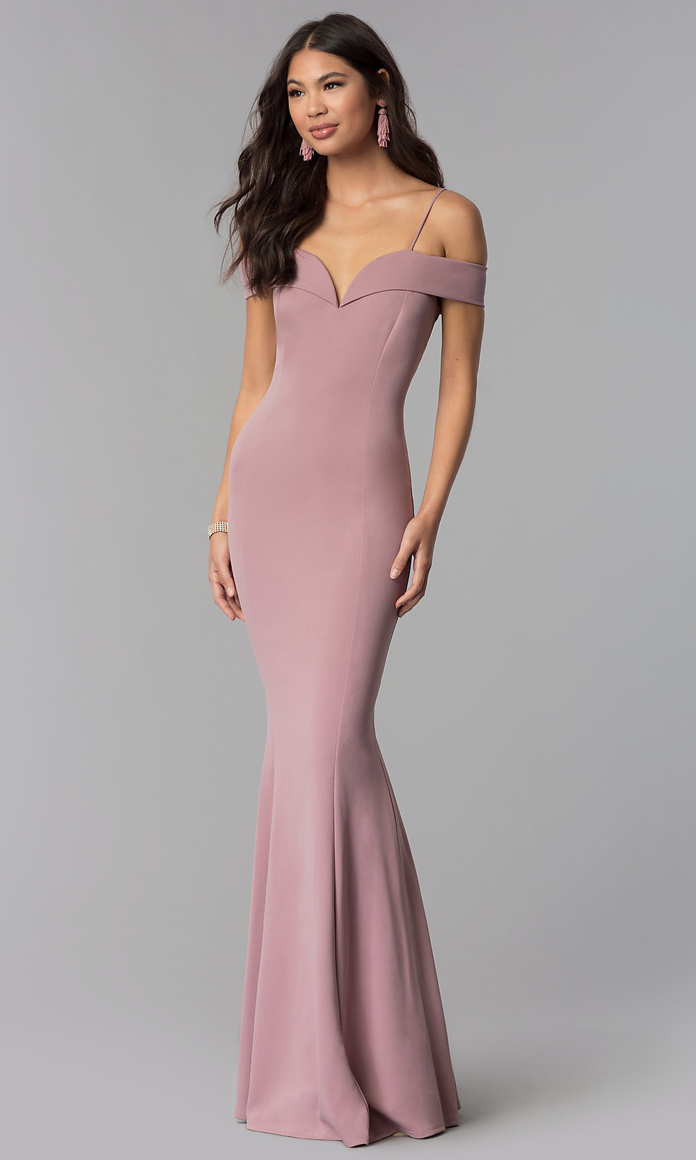 Long Formal Dress with OfftheShoulder Straps