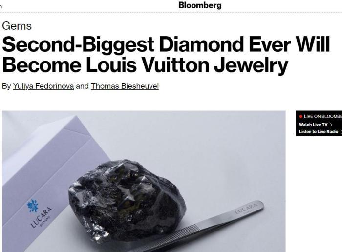 路易威登購入世界第二大鑽石原石 重達1758克拉(圖)__新浪網-北美