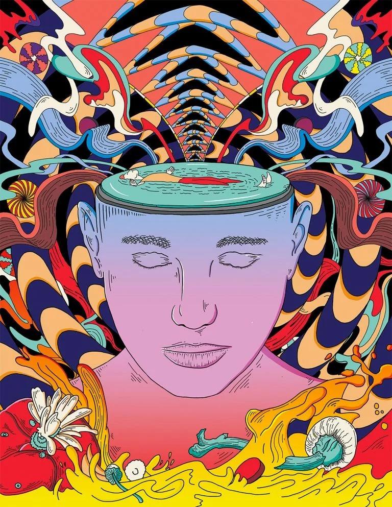 強烈的色彩和線條:Murugiah充滿活力的超現實主義插畫 - 設計之家