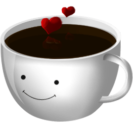 Cute Coffee Cup Wallpaper 爱心卡通咖啡杯png图标 设计之家