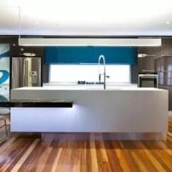 Kitchen Island With Range Brushed Nickel Faucet 厨房装修技巧和布局形式解析 设计之家 优点