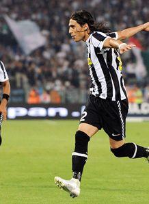Cáceres con la Juventus de Turín