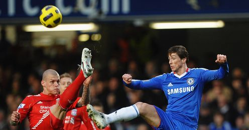 Chelsea v Liverpool Martin Skrtel Fernando Torres