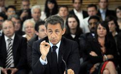 France's president Nicolas Sarkozy. Click image to expand.