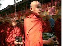 Burmese monks. Click image to expand.