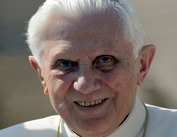 Pope Benedict. Click image to expand.