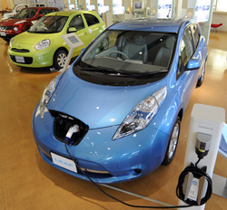 Nissan Leaf. Click image to expand.