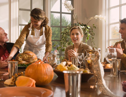 Thanksgiving scene. Click image to expand.