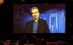 Lead Watson scientist David Ferrucci (via satellite). Click image to expand.