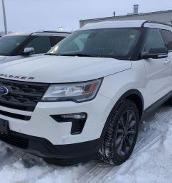 new 2019 ford explorer xlt white platinum tri coat met for sale 54196 75 19t3742 vickar ford winnipeg [ 2600 x 1950 Pixel ]