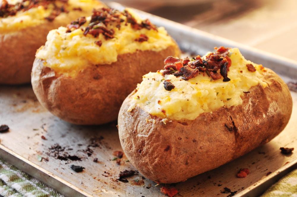 twice baked potatoes microwave