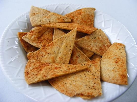 Homemade Baked Chips Tortilla Or Pita Recipe Genius Kitchen