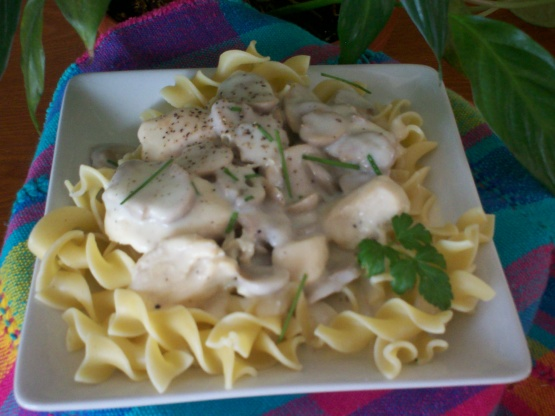 rachael ray kitchen island portable chicken and cream of mushroom over egg noodles recipe ...