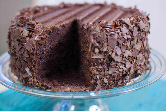 Dark Triple Chocolate Cake Recipe Genius Kitchen