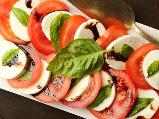 Tomato Basil Salad With Balsamic Dressing Recipe Genius