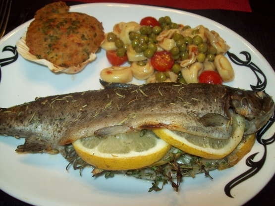 Herb Stuffed Rainbow Trout Recipe  Genius Kitchen
