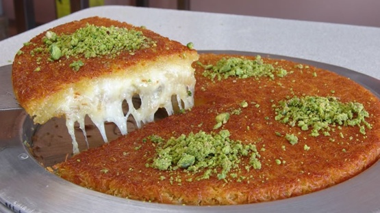 Kunefe A Sweet Cheese Pastry Made With Kadaifi Recipe