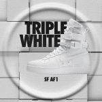 "国内12月8日発売予定 Nike Special Field Air Force 1 QS ""TRIPLE WHITE"""