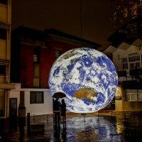 2019新竹元宵燈會 | 新竹過好年 國內外藝術家打造藍色漂浮地球迎豬年!