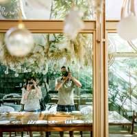 台北迪化街咖啡廳  | 牧山丘MuHills,老宅裡的義式餐廳/甜點下午茶 | 森林系玻璃屋