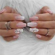 wedding natural gel nails design