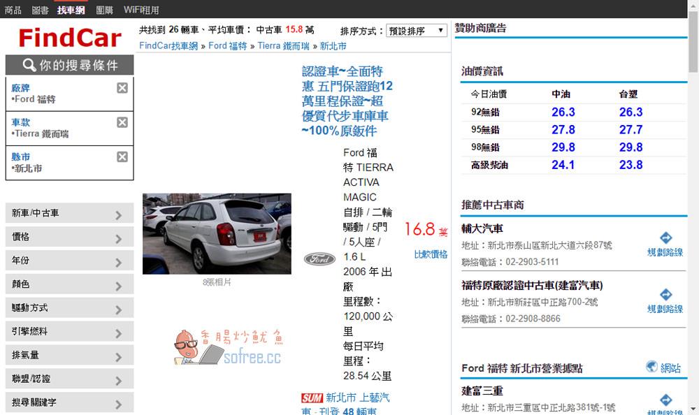 中古車比價查詢 | FindCar 找車網- 多家車商聯盟比較找到理想好車 - 香腸炒魷魚
