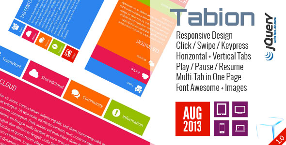 Tabion jQuery - Modern Responsive Tab Accordion Switcher
