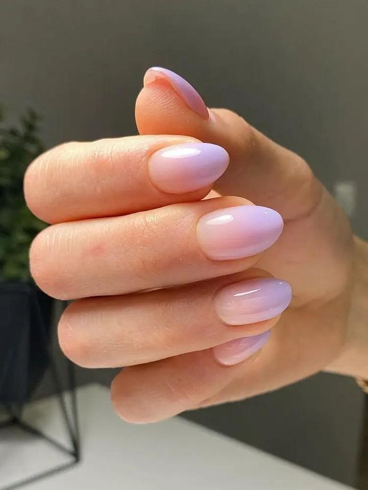 Purple Ombre Nails : purple, ombre, nails, Short, Purple, Ombre, Nails, Design