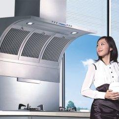 Kitchen Range Hoods Counter Materials 厨房抽油烟机并非越给力就越好 厨房抽油烟机