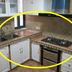 Cement Kitchen Sink Design Budget 越来越多人厨房不装橱柜了 回家直接用水泥砌 实在太聪明了 房天下 回家直接用水泥