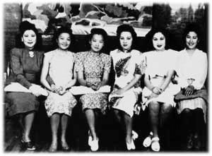 白虹 姚莉 周璇 李香蘭 白光 呉鶯音(Wikimedia Commons)