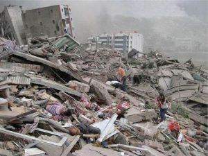 汶川地震后祭 (网络图片)