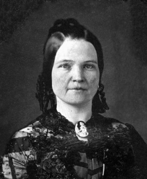 玛丽·托德·林肯,亚伯拉罕·林肯之妻,28岁时 (Wikimedia Commons)