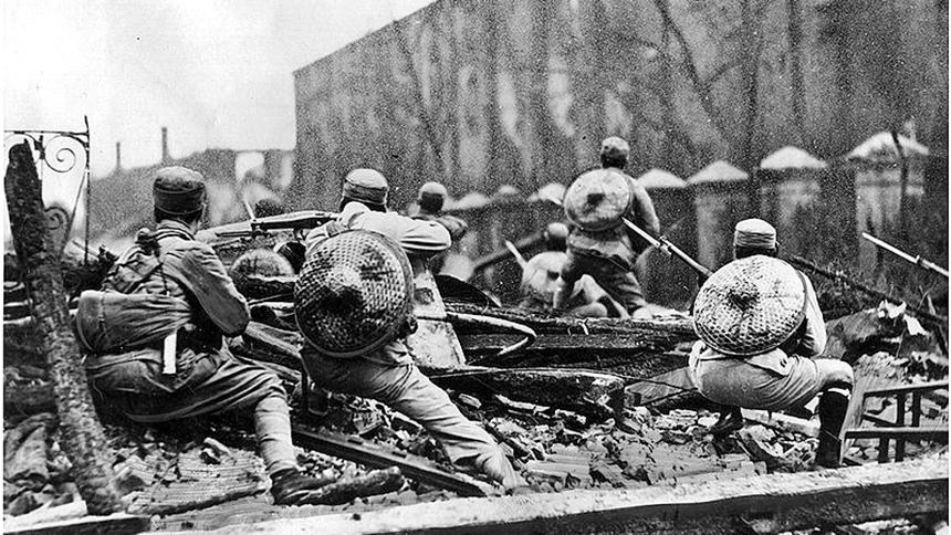 慘烈的淞滬會戰 蔣介石把日軍完整週密的整套部署全部打亂   上海淪陷   淞滬戰役   十里洋場   三月亡華   蔣 ...