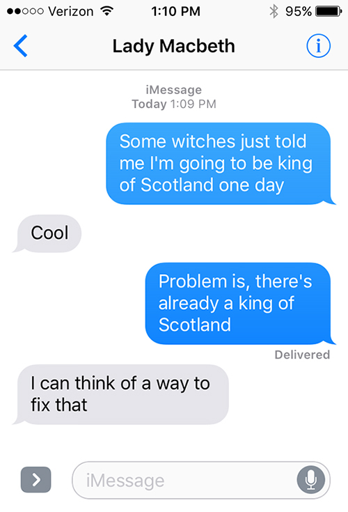 SparkLife  Macbeth As Told in a Series of Texts