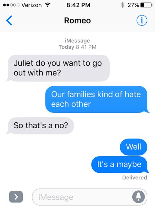 SparkLife  If Literatures Biggest Romantics Could Text