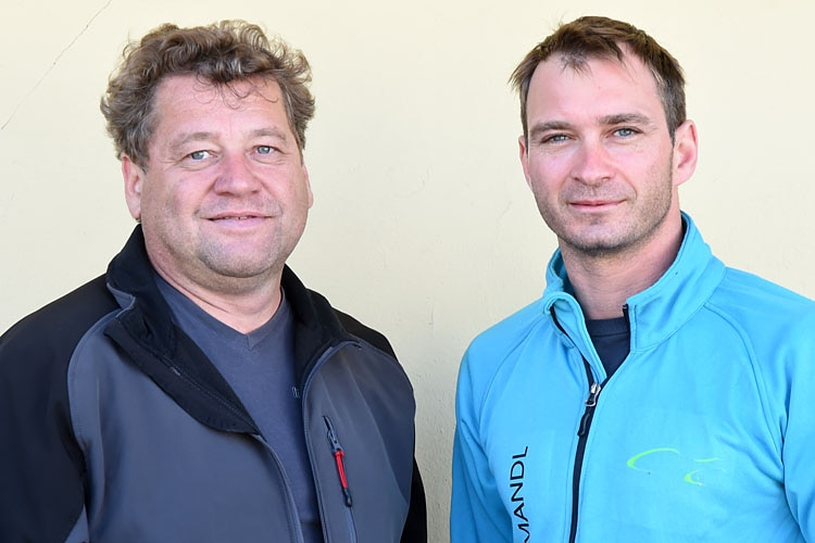 Peter Kimeswenger und sein Beifahrer Markus Billich (vlnr.)