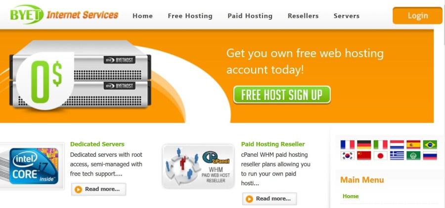 free hosting byet.host