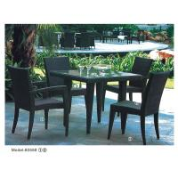 wicker patio chair set of 2 fishing with umbrella 5 piece pe rattan outdoor dining for 4