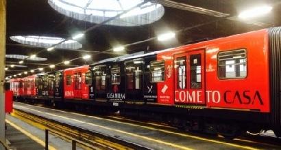Casa Milan invade la metropolitana milanese  Calcio  Sportmediaset