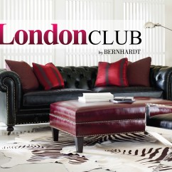 Bernhardt London Club Leather Sofa Price Circe Clei In Saddle Mathis Brothers