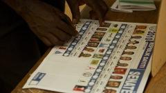 Bulletin de vote aux élections haïtiennes