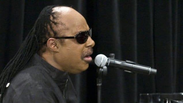 Stevie Wonder lors de son passage à Montréal, en 2009