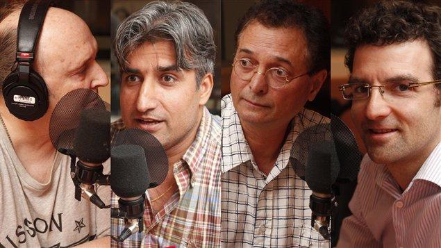 Lucien Francoeur, Hadi Qaderi, Normand Baillargeon et Akos Verboczy  © Radio-Canada/Marie-Sandrine Auger